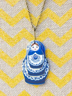 Nesting Matryoshka Dolls Necklace – Relished Shrink Art, Baubles And Beads, Shrinky Dinks, Matryoshka Doll, Diy Arts And Crafts, Diamond Are A Girls Best Friend, Embroidery Art, Craft Fairs, Craft Gifts