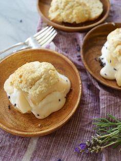 Peach Shortcakes with Lavender Cream