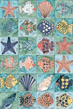 Gallery 2: Fish tile panels | Reptile Tiles