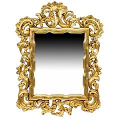 19th c. Italian Carved Giltwood Mirror - Dering Hall