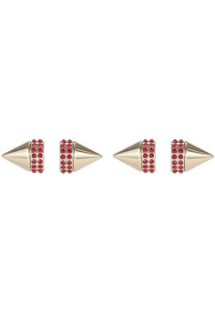 Try out the double-sided earring trend with these 15 stylish pairs.