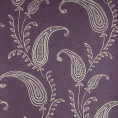 Soft Purple Contemporary Paisley Wallpaper By Brewster, Contemporary Modern Wallpaper Verve Shop Wallcovering By Collection - Interior Design Bathroom Wallpaper Purple, Paisley Wallpaper, Embossed Wallpaper, Modern Wallpaper, Home Wallpaper, Wallpaper Roll, Pattern Wallpaper, Bedroom Wallpaper, Purple And Gold Wallpaper