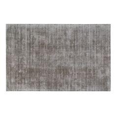 Weavers Malabar Collection Indoor Silver Grey Tencel Yarn Area Rug (8' x 10'), Size 8' x 10' (Solid)