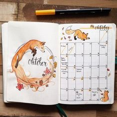 15 Stunning Orange Bullet Journal Spreads | My Inner Creative