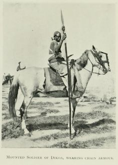 Ethnographic Arms & Armour - Some period photos of African 'knights'