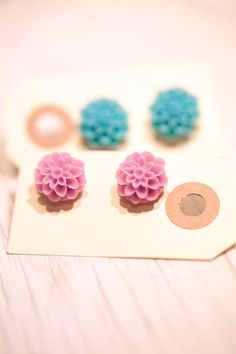 Pin earrings on tags as a stylish way to present your gift to friends, family, bridesmaids, etc. We carry cardstock tags in a variety of shapes and sizes in our scrapbooking department!