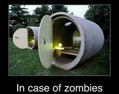 #zombies  place to sleep, get another one for food, water, storage, connect them all together for a house