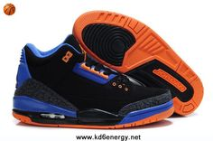 Black/Orange-Royal Blue/Cement Air Jordan 3 III