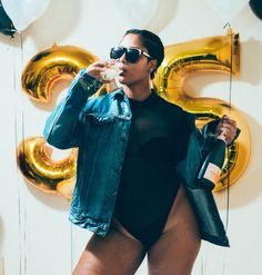My Birthday Top dc blogger Mesh bodysuit Oversized denim Body positive Plus size
