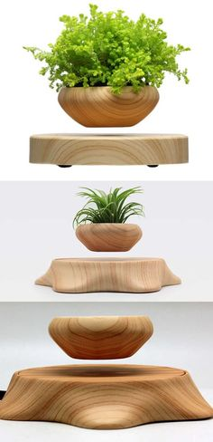 Rotating Magnetic Levitation Floating Air Bonsai Pot Flower Pot Potted Plant