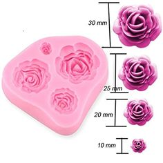 3D Silicone Rose Flower Soap Mold Mould Cake Topper Chocolate Fondant Decor ja