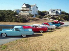 1950s ford Thunderbirds.