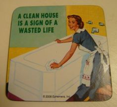 A clean house is a sign of the wasted life