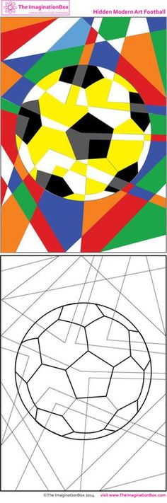 Get in the World Cup spirit with this abstract art free printable