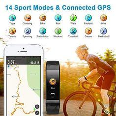 Letscom Fitness Tracker Watch Best Fitness Tracker, Treadmill Workouts, Calorie Counter, Bike Run, Watches For Men, Fat, Activities, Kids, Young Children