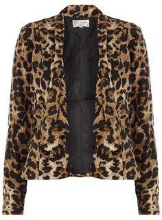 Brown animal print jacket