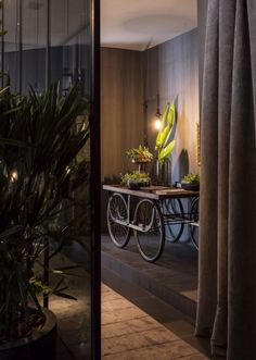 An Artful Loft Design - plant cart decor 9