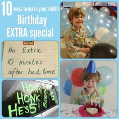 10 ways to make your child's birthday EXTRA special - magic in children's lives is what gives them special memories! Here are some beautiful ways to make your child's special day even more magical!