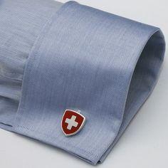 Manschettenknöpfe Schweizer Wappen
