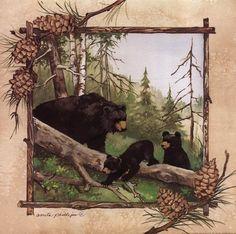 Black Bears IV by Anita Phillips art print