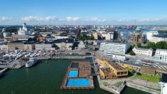 Helsinki ready for Putin and Trump on the 16th of July 2018. The President's Palace for the meeting and Allas Sea Pool for the TV commentators.