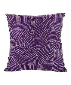 Look at this Purple Silk Bead Pillow on #zulily today!