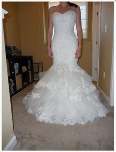 Sexy Sweetheart Beaded Layered Lace Mermaid Wedding Dress 2016 Lace Up Back Bridal Dresses Robe De Mariage