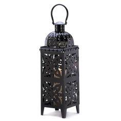 Giant-size Black Medallion Lantern - MNM Gifts