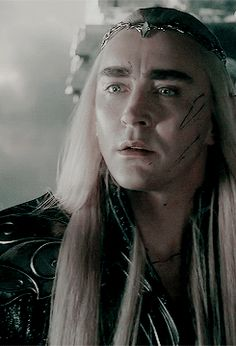 Thranduil's reaction to seeing Legolas alive after the battle  So handsome ~