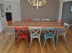 2.5M INDUSTRIAL TABLE WITH 10 CROSS-BACK CHAIRS BAYGALDS418 Online Furniture, Luxury Dining Sets, Family Dining Rooms, Furniture, Crossback Chairs, Commercial Furniture, Dining Suites, Home Furniture, Home Decor
