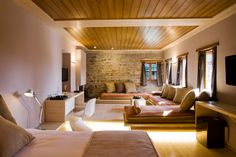 Kipi Suites is an exclusive boutique hotel nestled in the magical network of mountains, valleys and rivers in Zagori in North West Greece. Hotels And Resorts, Best Hotels, Small Hotels, Wooden Staircases, Hotel S, Interior Design, Luxury, House Styles, Greece