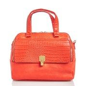 Snake Skin Faux Leather Convertible Satchel