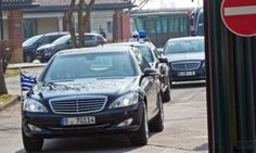 epa04676039 A convoy of the Greek Prime Minister Tsipras leaves the military compound of the airport Berlin-Tegel in Berlin, Germany, 23 March 2015. Tsipras is scheduled to hold a meeting with German Chancellor Merkel later the day during his visit in Germany. Tsipras is expected to present a list of reforms, hoping to unlock bailout funds to prevent Greece from running out of cash next month, Greek government sources said. EPA/JOERG CARSTENSEN