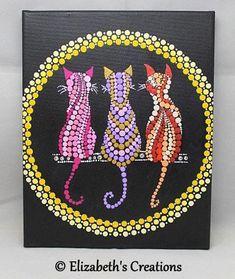 Etsy :: Your place to buy and sell all things handmade Mandala Art, Mandala Canvas, Mandala Stencils, Mandala Painting, Mandala Pattern, Mosaic Patterns, Dot Art Painting, Stone Painting, Painted Rocks