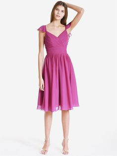 Pleated Chiffon Bridesmaid Dress | $149.99 forherandforhim.com