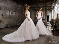 #Spose come regine. Mille veli di #tulle creano sfumature noisette. #GrittiSpose  #fieramilano #sposaitalia #sisposaitalia #abitidasposa #vestitidasposa #matrimonio #wedding #weddingdress #sposa #bride #bridal #madeinitaly #atelier