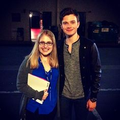 hrhchriscolfer with ET production assistant at the final Hot In Cleveland taping: Nice Meeting You, Chris Colfer, Glee, Hot, Production Assistant, Cleveland, Choir
