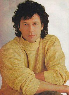 Youthful Imran khan ~ cricketer and politician