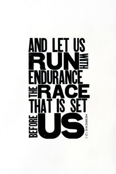 Running Themed Art Black and White Letterpress by PrintandBeMerry