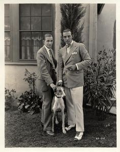 Rudolph Valentino & Horace Wade 1925
