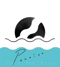 Paraiso by Yogee New Waves on iTunes Logo Design Template, Flyer Design, Waves Logo, Album Cover Design, Wave Design, Design Web, Wave Art, Music Artwork, Typography Logo