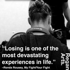 """Losing is one of the most devastating experiences in life."" -Ronda Rousey #quote #quotes #inspiring #inspiration #rondarousey #rowdyronda"