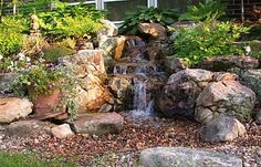 Pondless Waterfall....What's not to love? Get started today and you can be enjoying your backyard waterfall in no time!