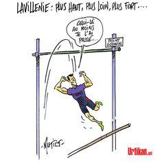 Mutio (2016-08-18) JO 2016 : Lavillenie se compare à Jesse Owens en 1936… puis s'excuse - Dessin du jour - Urtikan.net