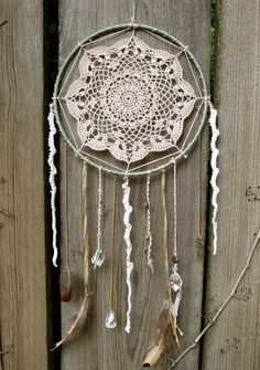 Antique-Themed Crochet Lace Doily Dream Catcher
