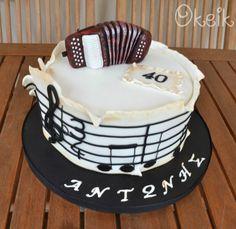 Accordion Music Cake