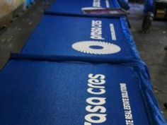 prasa photo: prasa cres corporate real estate solutions shadecloth fence branding.