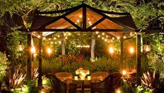 Lighting is key to making the most of your outdoor space. The goal is to fashion a subtly lit area.