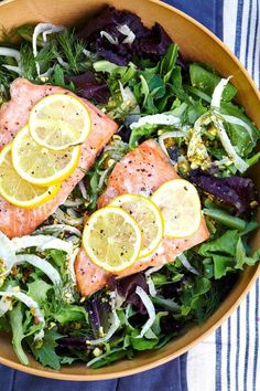 Every week, we spotlight a different food blogger who's shaking up the blogosphere with tempting recipes and knockout photography. Below, Julia Gartland of Sassy Kitchen shares an easy breezy salmon salad perfect for a casual lunch with friends. Though light and citrusy, it's still hearty enough to fill