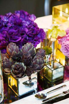 romantic purple wedding